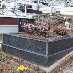 İki Kişilik Verde Star Komple Granit Mezar