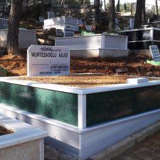 İki Kişilik Verde Guetemala Gövde Granit Mezar