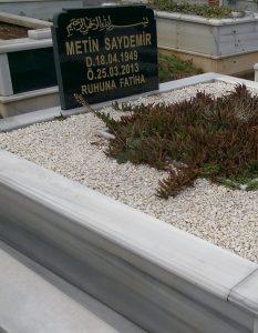 İki Kişilik Baş Taşı Granit Mermer Mezar