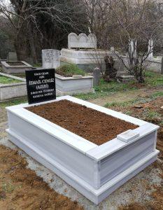 Tek Kişilik Baş Taşı Granit Mermer Mezar