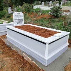 Tek Kişilik Şeritli Mermer Mezar