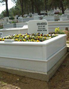 İki Kişilik Komple Mermer Mezar