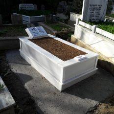 Tek Kişilik Baş Taşı Kitabe Mermer Mezar