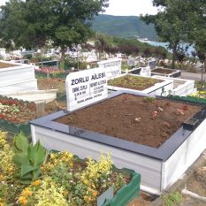 İki Kişilik Küpeşte Granit Mezar