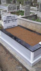 Tek Kişilik Küpeşte Granit Mermer Mezar