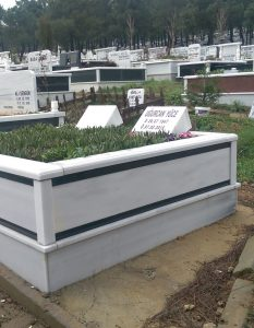 İki Kişilik Baş Taşı Abide Mermer Mezar
