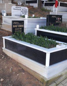 Tek Kişilik Baş Taşı Gövde Granit Mezar