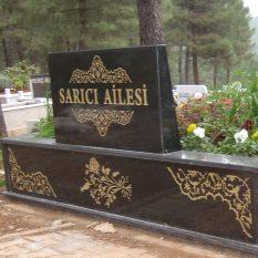 Özel Desen İşlemeli Granit Mezar
