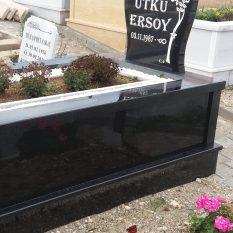 Baş Taşı Küpeştesi 6 cm Komple Granit Mezar