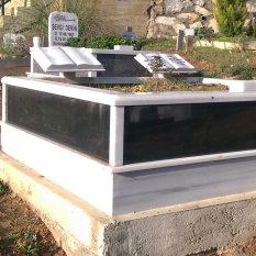 İki Kişilik Baştaşı Kitabe Gövde Granit Mezar