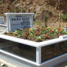 İki Kişilik Baş Taşı Sütunlu Gövde Granit Mezar