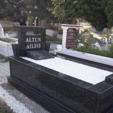 Tek Kişilik Özel Yapım Komple Granit Mezar