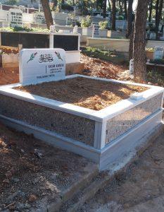 İki Kişilik Rosavel Gövde Granit Mezar
